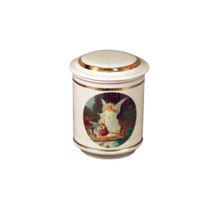 The Guardian Angel - Porcelain Jar with Painted Guardian Angel
