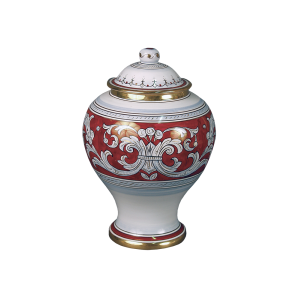 D'Oro - Ginger Jar with Gold and Crimson Design  (Adult)