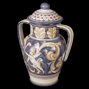 Splendor - Beige/Blue Vase with Handles  (Adult)