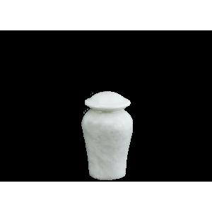 Arno White Marble Token - White/Gray Marble Vase (Token)