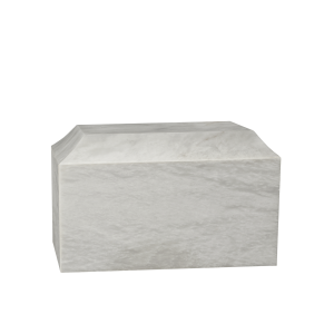 Patriot I - White Marble Chest-Style Urns (Adult)