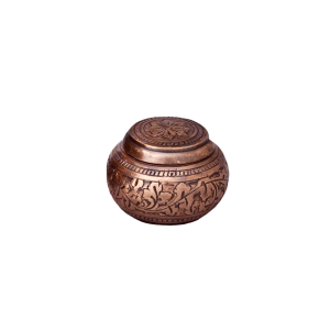 Copper Cognac II Token - Round Copper Urn with Blind Embossed pattern