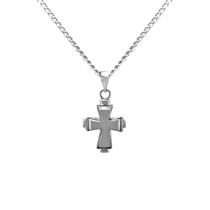 Tiered Cross - Sterling Silver with Chain