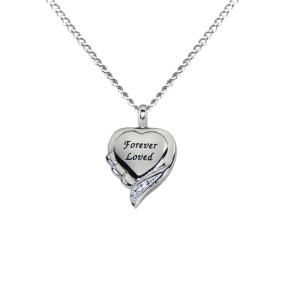 Forever Loved Heart  - Stainless Steel with Chain