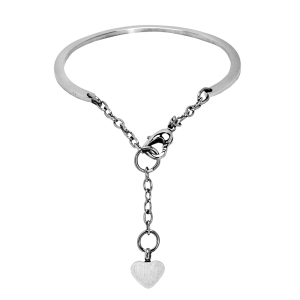 Petite Heart Bracelet Bangle-Adjustable Style with Heart