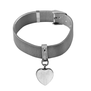 Mesh Heart Bracelet - Adjustable Belt Buckle Styling