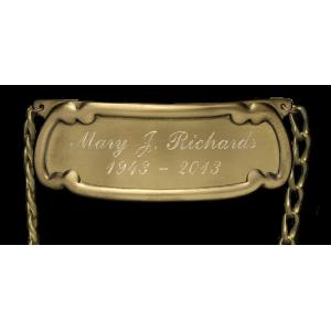 Nameplate - Vase Style Engraving