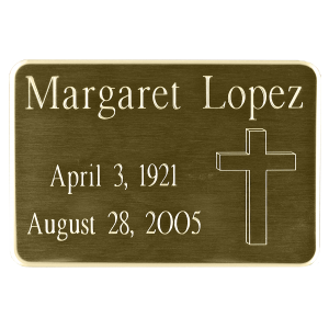 Nameplate - Rectangle Brass with Rounded Corners