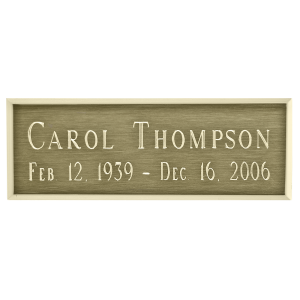 Nameplate - Rectangle Bronze