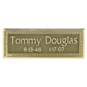 Nameplate - Rectangle Brass with Border Design
