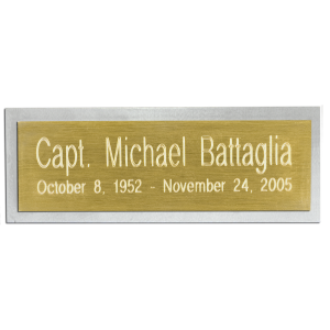 Nameplate  - Rectangle
