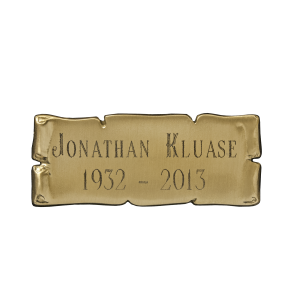 Nameplate - Cast Bronze Scroll
