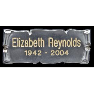 Nameplate - Horizontal Silver