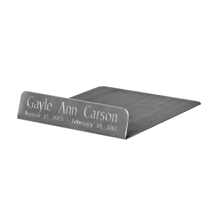 Urn Base Plate - Pewter