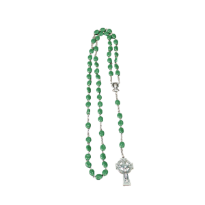 Celtic Cross Rosary - Green Bead with Celtic Cross