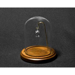 Vista with Wire - Glass Dome w/ Walnut Base and Wire for Display