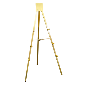 Gold Easel, 5 ft. - Anodized Easel with 3 Display Levels