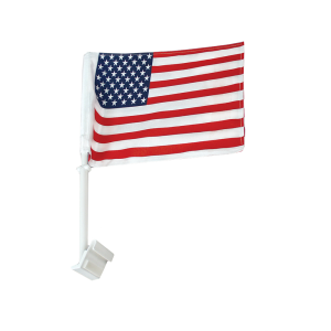 "American Flag, Lead Car - Double-Sided Window 20"" Mount"