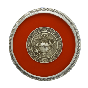 Marines - Enamel with Silver Military Medallion