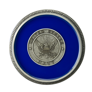 Navy - Enamel with Silver Military Medallion