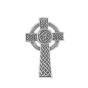 Knotted Celtic Cross - Silver