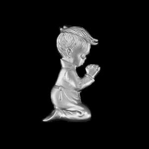 Boy Kneeling - Silver