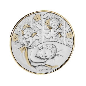 The Guardian - Silver with Angels (Round)