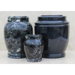 Black Genuine Marble Pet Urn