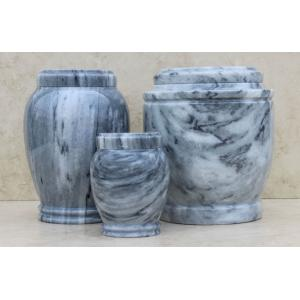 Grey Cultured Marble Pet Cremation Urn