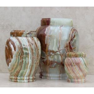 Cultured Onyx Multicolor Pet Cremation Urn