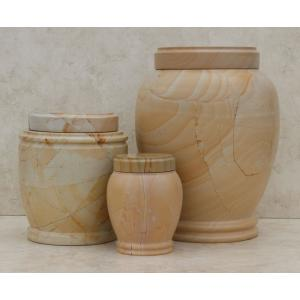 Teakwood Cultured Marble Pet Urn