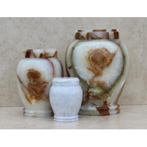White Cultured Marble Pet Cremation Urn