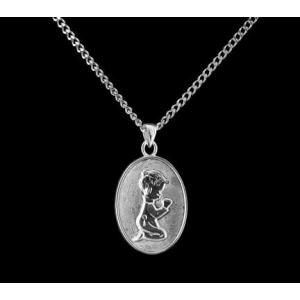 Boy Kneeling - Sterling Silver with Chain
