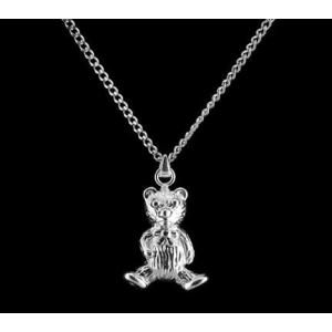 Teddy Bear - Sterling Silver with Chain