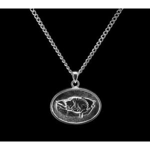 Cat Bed - Sterling Silver with Chain