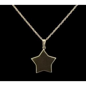 Flat 5 Point Star - 14k Gold with Chain