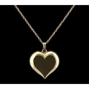 Large Heart - 14k Gold with Chain