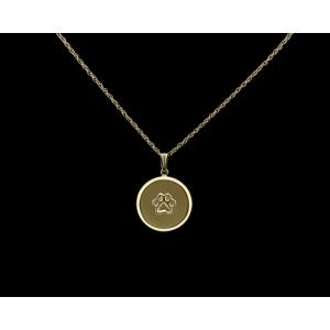Pawprint- 14k Gold with Chain