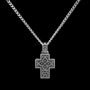 Filigree Cross - Sterling Silver with Chain