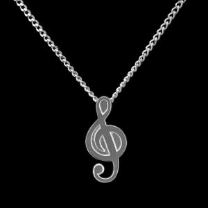 Treble Clef - Sterling Silver with Chain