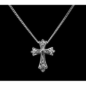 Fleur de Lis Cross – Sterling Silver with Chain