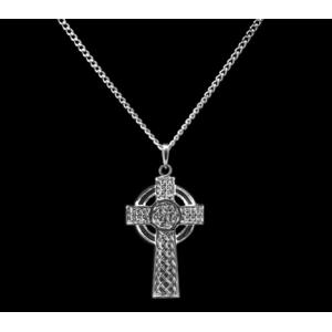 Sterling Silver Knotted Celtic Cross Necklace