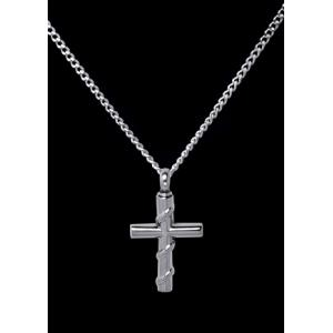 Roped Cross – Stainless Steel with Chain