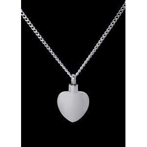 Plain Heart – Stainless Steel with Chain
