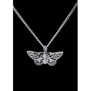 Butterfly Cremation Necklace– Stainless Steel with Chain