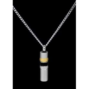 Black/Gold/Silver Cylinder – Stainless Steel with Chain