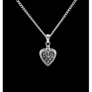 Filigreed Heart- Sterling Silver with Chain