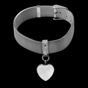 Mesh Heart Bracelet – Adjustable Belt Buckle Styling