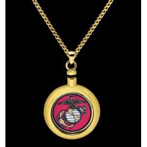 US Marine- Brass with Chain
