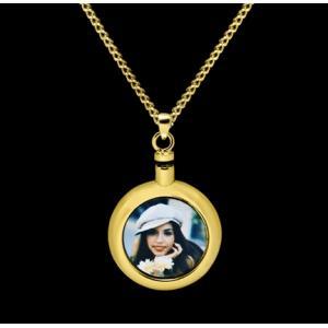 Custom Pendant - Brass with Chain